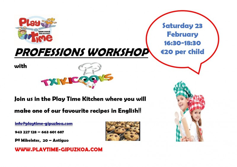 PROFESSIONS WORKSHOPS WITH TXIKICOOKS